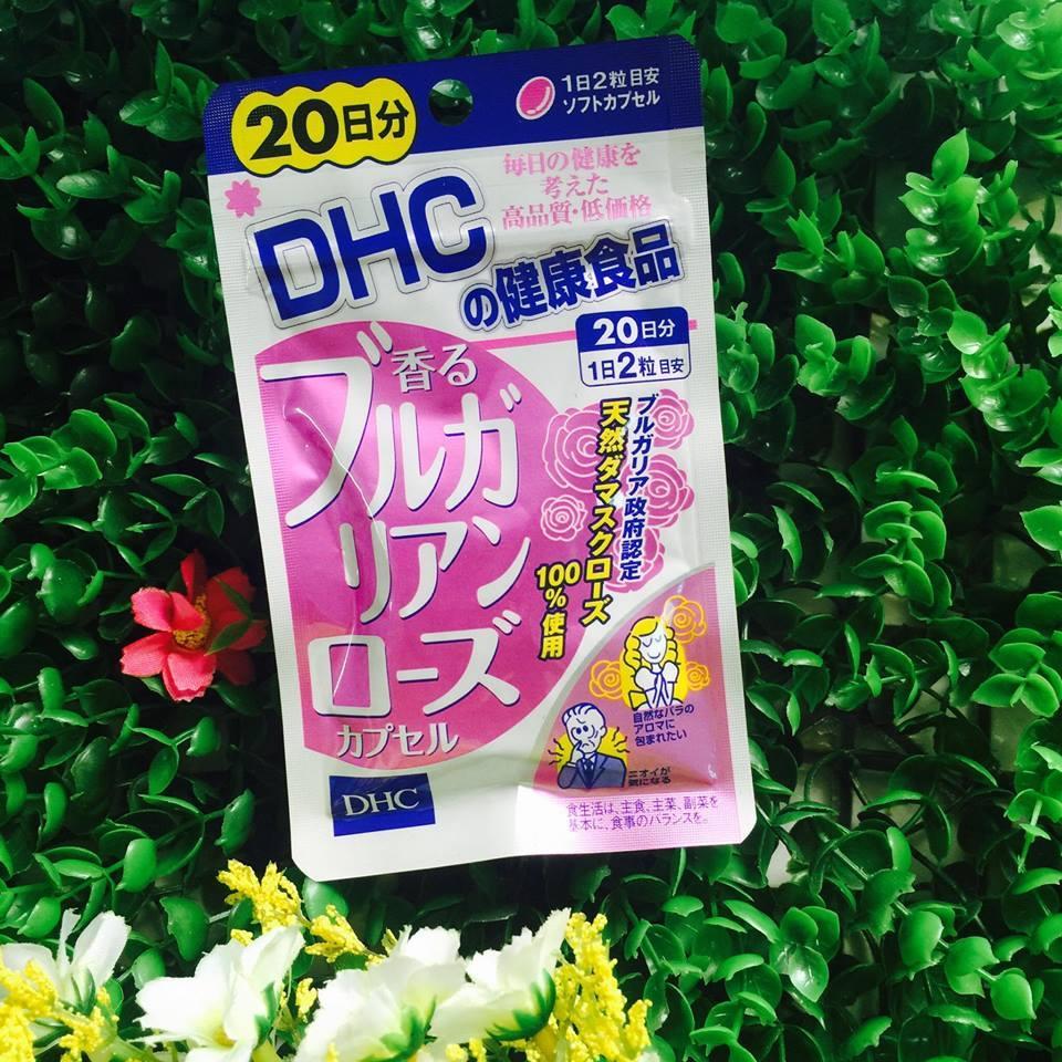 [CHÍNH HÃNG] Viên Uống Hoa Hồng Thơm Cơ Thể DHC Nhật Bản - Bulgaria Rose Oil - 40 viên (20 ngày) chính hãng