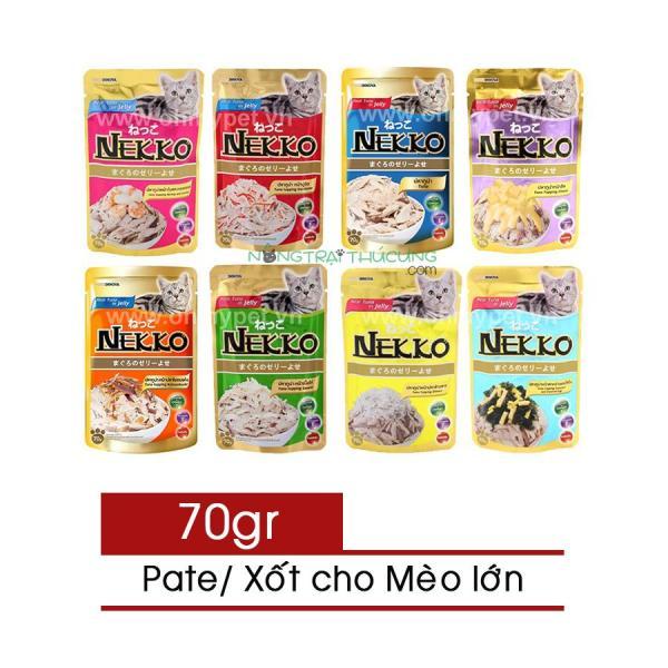 Pate/ Xốt NEKKO (Jelly) Cho Mèo Lớn - Đủ 8 vị - 70gr - [Nông Trại Thú Cưng]