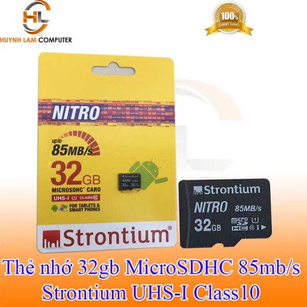 Thẻ nhớ 32GB - Thẻ nhớ 32GB Strontium MicroSDHC Class10 up to 85MB/s