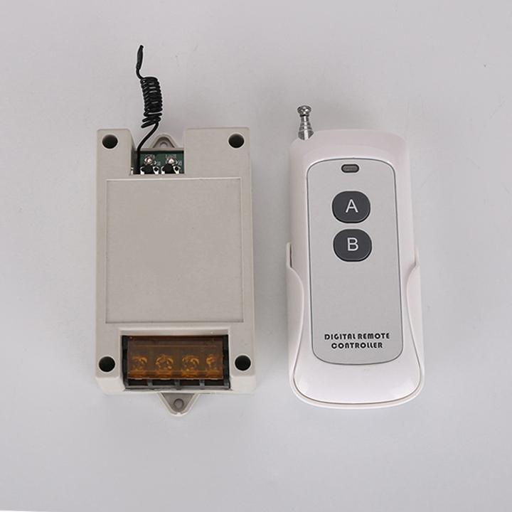 Công tắc điều khiển từ xa 50: 200m 2 cổng ra, remote học lệnh tần số 433MHZ, có thể bật tắt từng kênh trên mạch điện