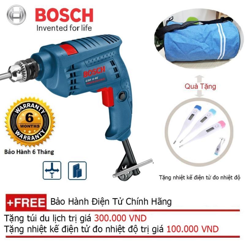 Máy khoan động lực Bosch GSB 10 RE - SET + Quà tặng balo du lịch