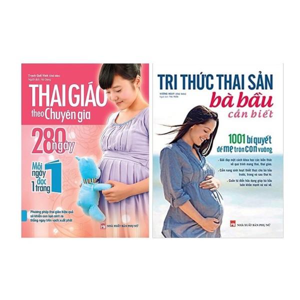 Sách - Combo Cẩm Nang Thai Giáo ( Thai Giáo Chuyên Gia 280 Ngày + Tri Thức Thai Sản Bà Bầu Cần Biết