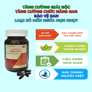 Viên Bổ Gan Sologan New (Hộp 60 Viên) - Sản phẩm của người Việt - cho người Việt. Hỗ trợ giải độc gan - Tăng cường chức năng gan 7