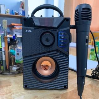 Loa hát karaoke có mic - Loa Công Suất Lớn - Loa A300 Hozito Cao Cấp Omono 2020 Đi kèm. Loa t cắm trực tiếp. Loa Hat Karaoke Bluetooth Kẹo Kéo. thumbnail