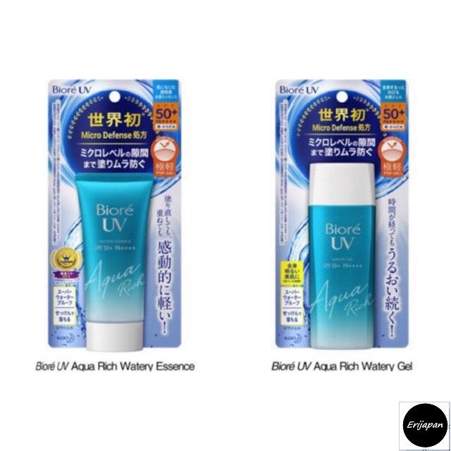 Nội địa Nhật Bản - Kem chống nắng Biore Aqua Rich Watery Essence 50gr / Gel 90ml nhập khẩu