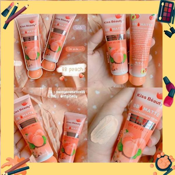 Kem nền BB Cream đào 2in1 của Kiss Beauty (có chống nắng SPF45 và che khuyết điểm) ( queen cosmetics) giá rẻ