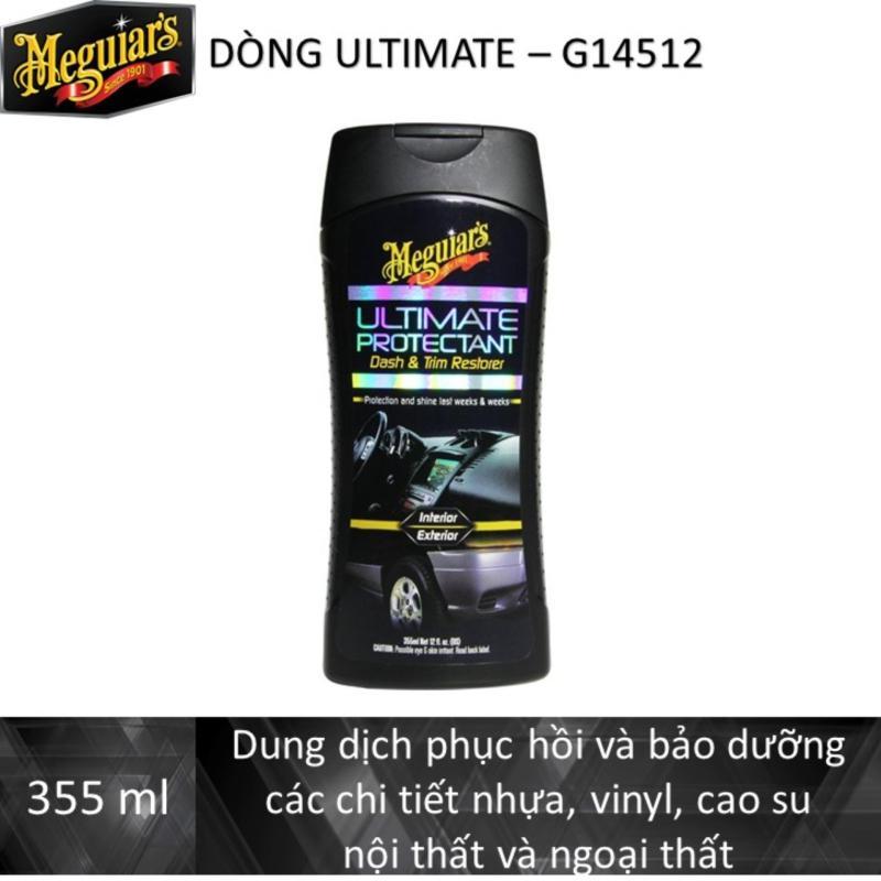 Meguiars Dung dịch phục hồi & bảo dưỡng các chi tiết nhựa, vinyl, cao su nội & ngoại thất dòng cao cấp Ultimate - Ultimate Protectant, G14512, 355ML