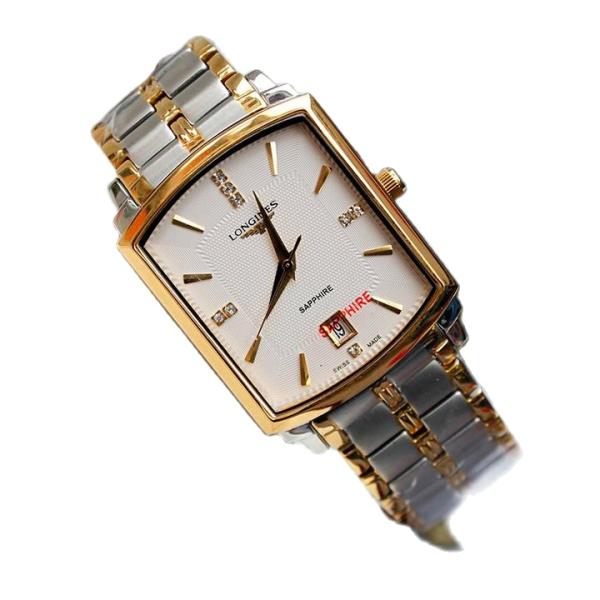 Đồng hồ Nam mặt chữ nhật dây kim loại kính sapphire size 30*36mm bán chạy