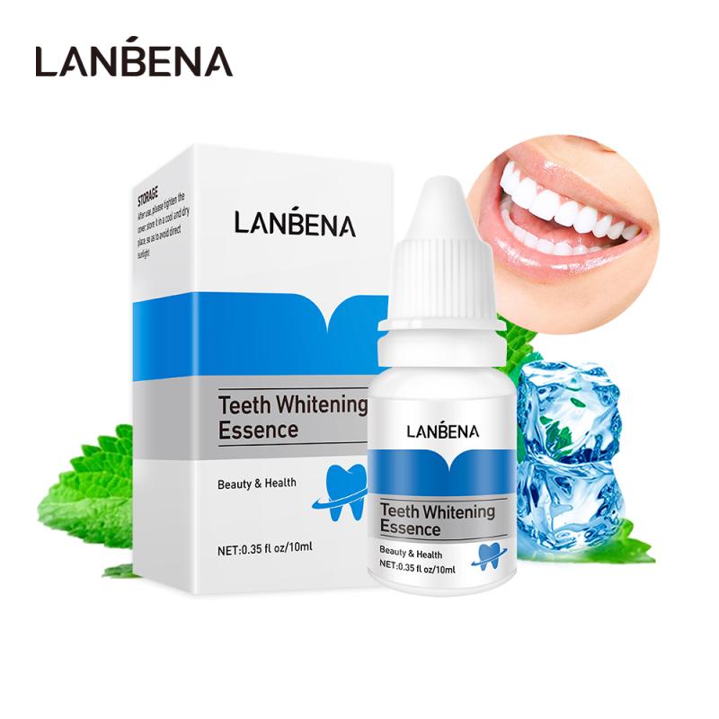 LANBENA Tinh chất làm trắng răng Bột làm sạch răng miệng Huyết thanh làm sạch loại bỏ vết bẩn mảng bám Tẩy trắng răng Dụng cụ nha khoa Kem đánh răng