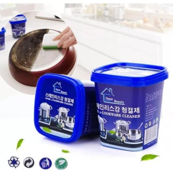 Kem tẩy xoong nồi đa năng Hàn Quốc - Kem tẩy sạch vết bẩn xoong nồi đa năng, Kem cọ rửa đa năng đồ inox, đồ sứ nhà bếp, nhà tắm Hàn Quốc, kem tẩy chống gỉ
