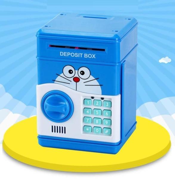 Hộp đồ chơi - két sắt mini đựng tiền cho bé yêu(màu xanh và hồng)