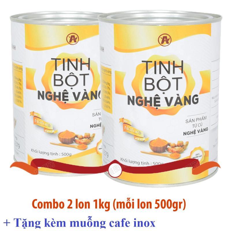 Combo 2 lon Tinh bột nghệ vàng An Bình (1kg) cao cấp