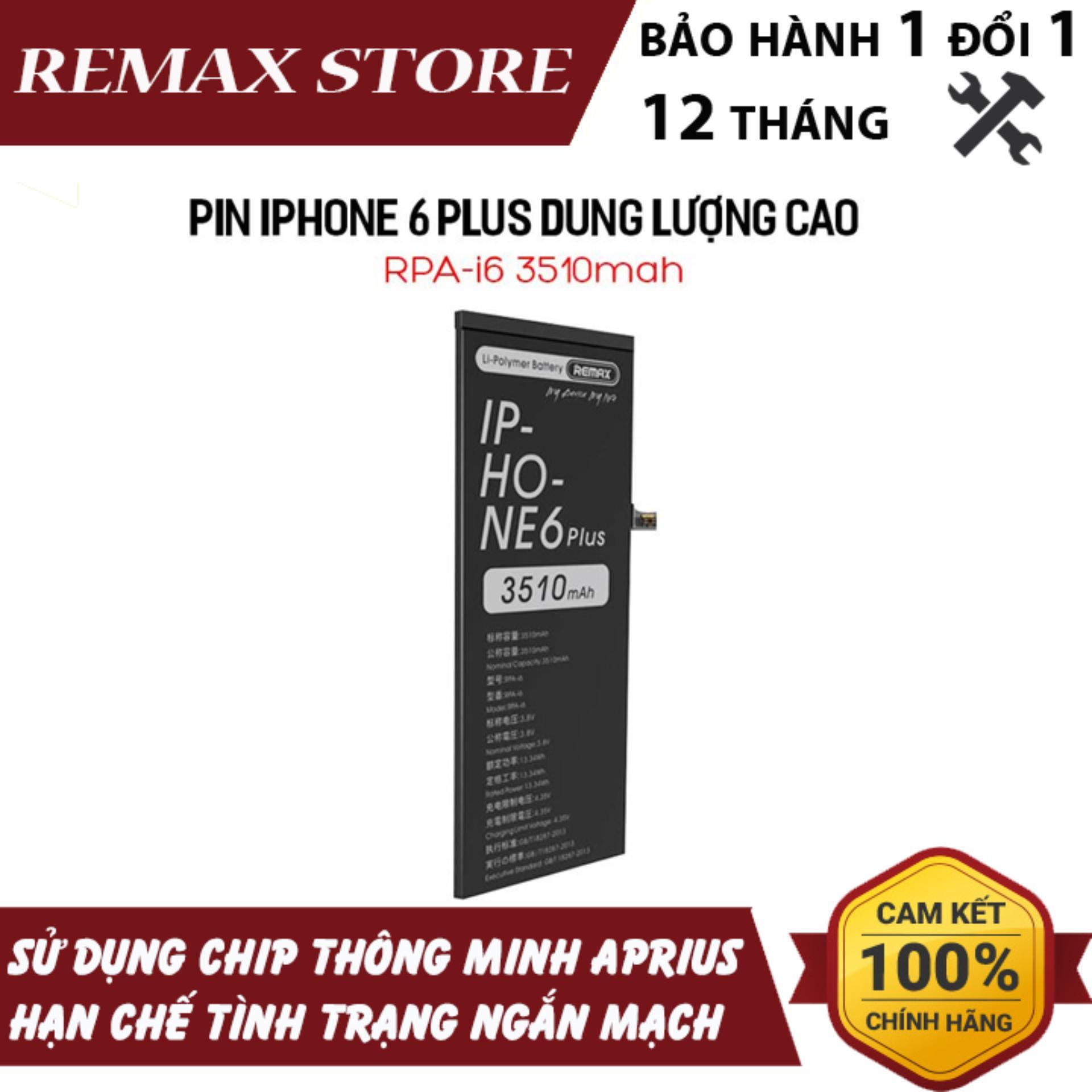 Giá Quá Tốt Để Có Pin IPhone 6 Plus Dung Lượng Cao Remax RPA-i6 3510mah