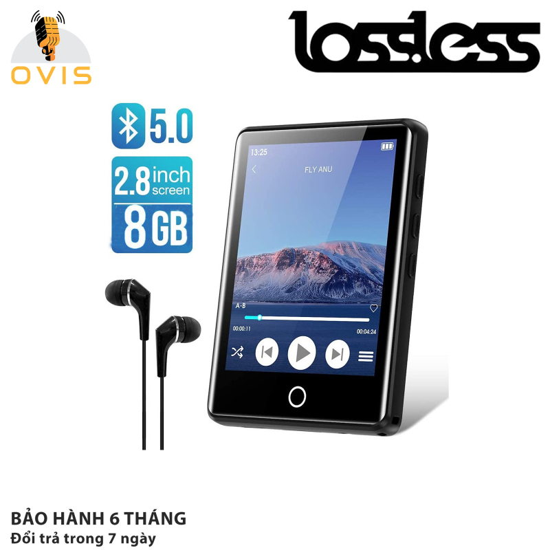 Ruizu M6 | Máy Nghe Nhạc Full Cảm Ứng, Bluetooth 5.0, Loa Ngoài, Bộ Nhớ Trong (8Gb)