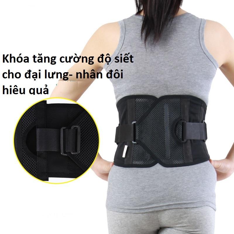 Đai lưng cố định cột sống thắt lưng cải thiện thoát vị đĩa đệm bảo vệ cột sống thắt lưng SON YOUNG HÀN QUỐC