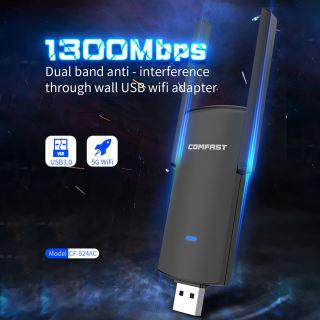 COMFAST CF-924AC Bộ Thu Dongle Card Mạng Wifi USB 1300 2.4 M 5.8/3.0 GHz