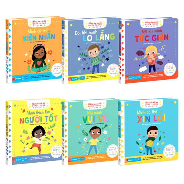 Bộ 6 Cuốn Sách - Những cảm xúc nhỏ quan trọng của bé ( Sách chuyển động , tương tác cho bé )