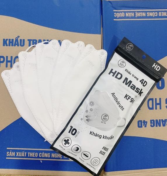( Túi 10 chiếc TRẮNG ) Khẩu Trang 4D MASK KF94 Công Nghệ Dập Hàng Quốc, Thiết Kế Thời Trang, Kháng Khuẩn