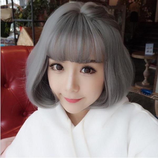 Tóc giả nữ Hàn Quốc + Tặng kèm lưới T186