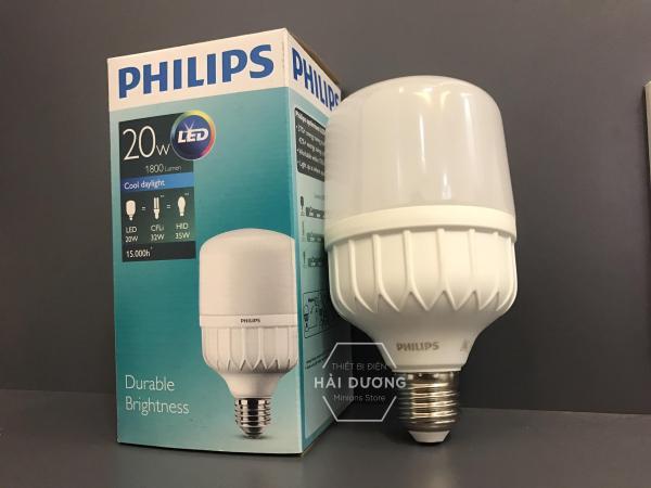 Bóng đèn Philips LED trụ 20W đuôi E27 230V P45 ánh sáng trắng/vàng