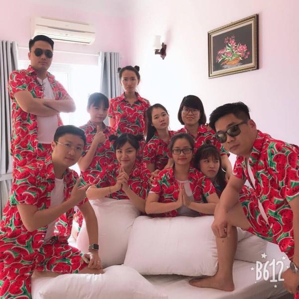 [Thu thập mã giảm thêm 30%] Pijama Dưa Hấu Đỏ Cực Đẹp ( Có Sz Trẻ Em)