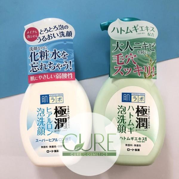 Sữa rửa mặt tạo bọt Hada Labo Gokujyun Hatomugi Foaming Hadalabo Face Wash 160ml