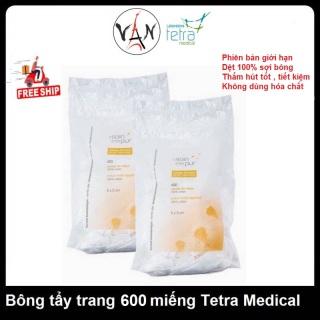 Bông Tẩy Trang Tetra Medical Le Soin L etat Pur 500 Miếng thumbnail