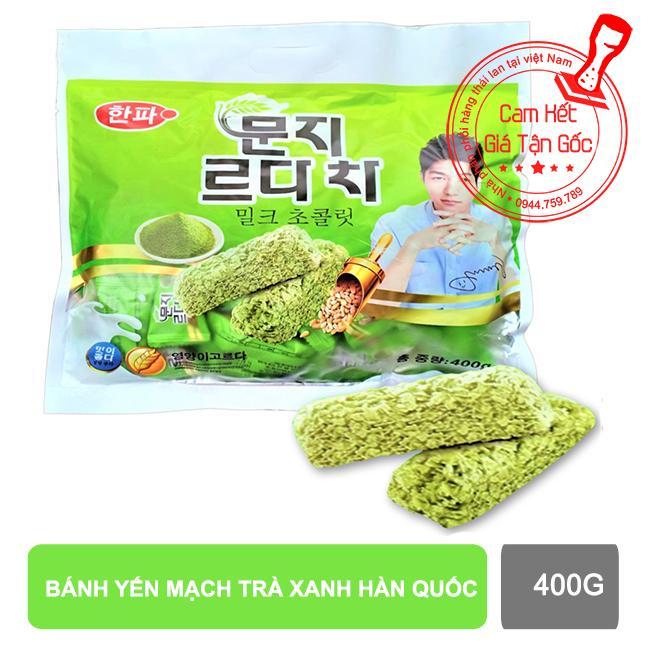 Bánh yến mạch trà xanh Hàn Quốc 400g【Kho Thế Giới 】