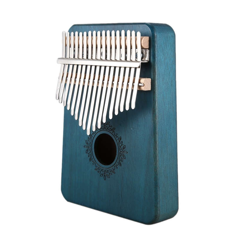 17 Keys Kalimba African Thumb Finger Piano Mahogany Musical Instrument For Kids Adult Beginners,Blue