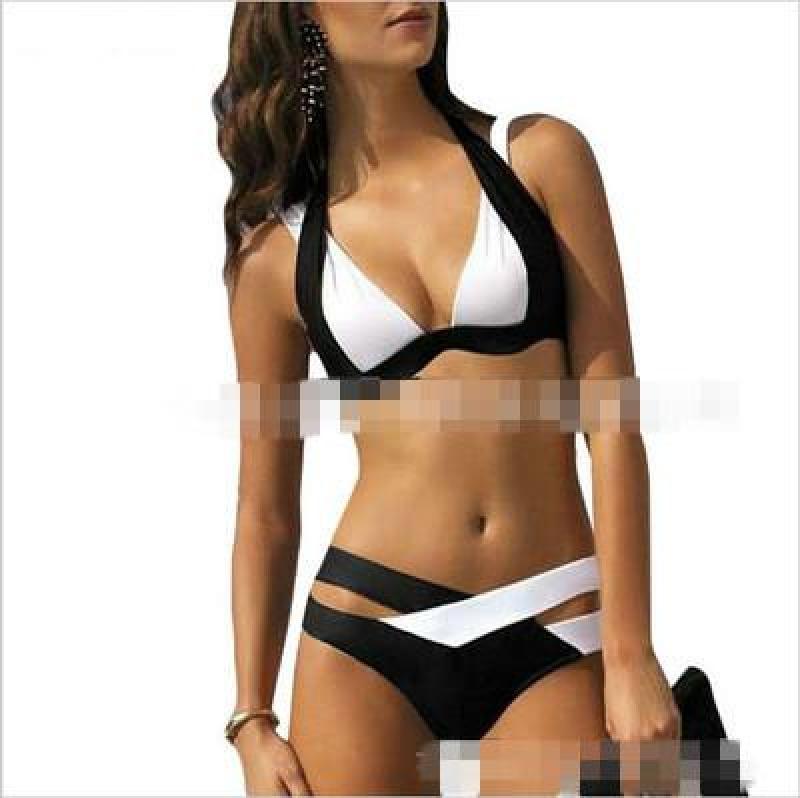 Nơi bán Âu-mỹ Đồ Bơi Dạng Phân Tách Áo Tắm Ngực Nhỏ Nâng Ngực Hoa In Bikini Brazil Liền Thân Gợi Cảm Đồ Bơi ~ Không Được Trả Lại