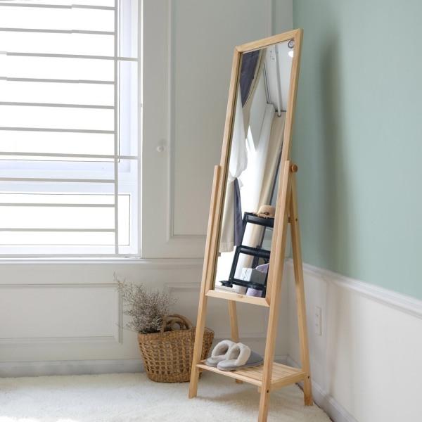 Gương soi toàn thân di động khung gỗ lắp ráp đủ 3 màu - Nội Thất Ori