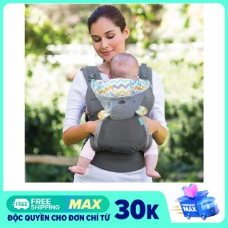 [USA] Địu em bé sơ sinh Infantino Cuddle Up Ergonomic Hoodie 2 in 1, tải trọng đến 18kg, với 2 tư thế địu kèm mũ chống nắng thumbnail