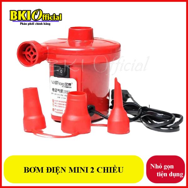 Máy bơm điện mini 2 chiều hút chân không bơm mạnh tiện lợi, gọn nhẹ sử dụng bơm phao bơi, bể bơi, nhà hơi