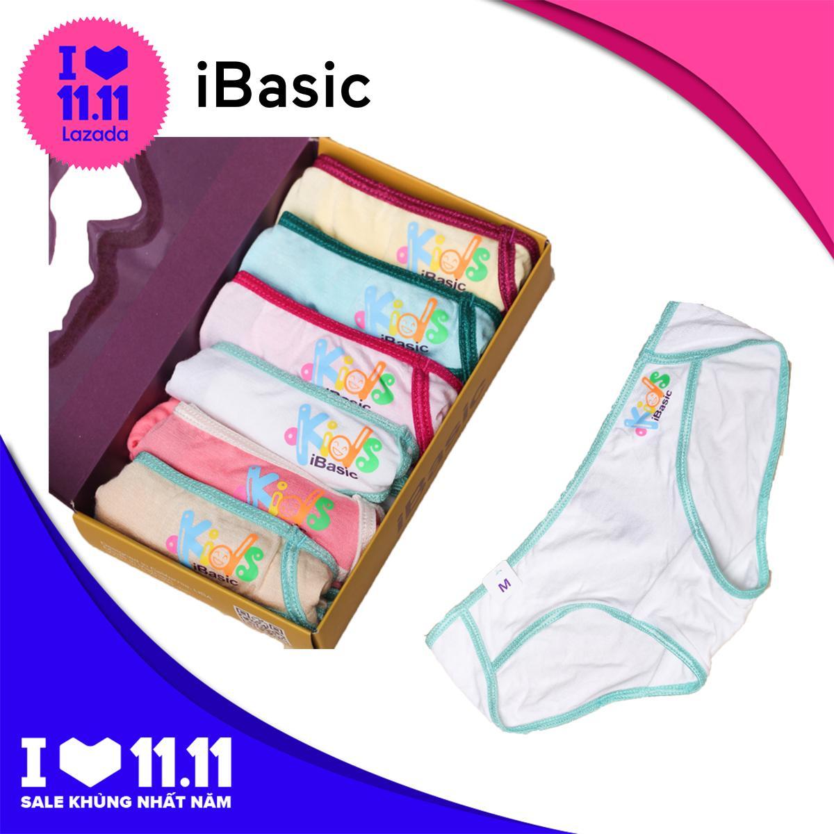 Giá bán Hộp 6 cái quần lót bé gái bikini iBasic KG001P tặng túi bảo vệ môi trường