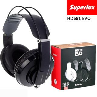Tai nghe phòng thu Superlux HD681 Evo (Đen) - Tai nghe kiểm âm Superlux HD681 EVO - Tai nghe chụp tai chống ồn Superlux HD681EVO - Headphone Superlux HD681EVO - Superlux HD681 EVO Professional Monitoring DJ Headphone noise isolating game headphone thumbnail