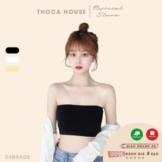 Áo bra nữ dạng ống vân trơn thun co giãn THOCA HOUSE 3 màu đen, trắng, nude, đường chỉ may chắc chắn hàng nhập khẩu cao cấp thumbnail