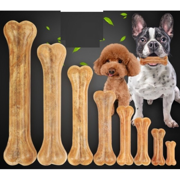 HP-Xương ống da bò cho chó gặm - phù hợp với chó lớn trên 15kg (hanpet 371) 20cm