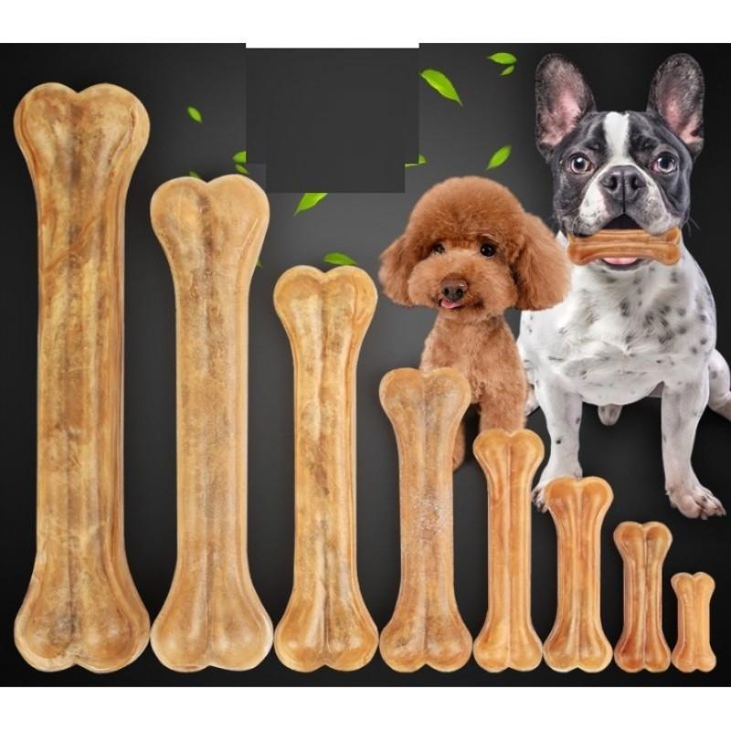 HN HP-Xương ống da bò cho chó gặm - phù hợp với chó lớn trên 15kg (hanpet 371) 20cm