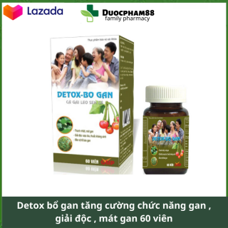 Detox bổ gan 60 viên thải độc mát gan, tăng cường chức năng gan đạt chuyển GPP bộ y tế thumbnail