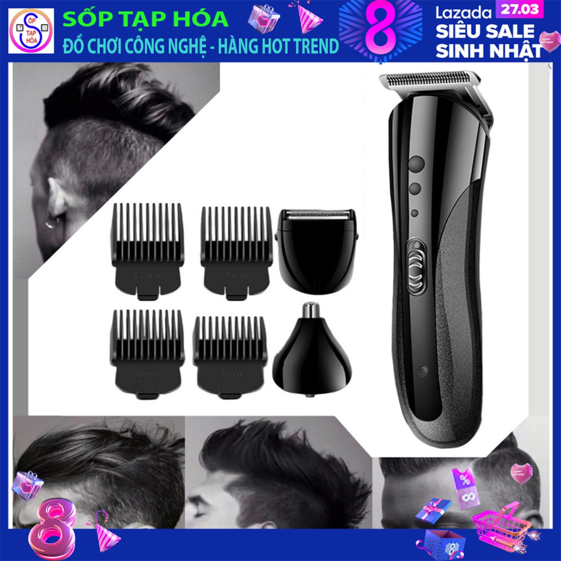 Tông đơ cắt tóc KM 1407 -  cạo râu, cắt lông mũi 3 trong 1 giá rẻ