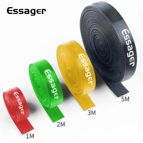 Dây dán velcro bằng nylong dài 1m/2m/3m/5m có thể cắt tùy ý và tái sử dụng - Essager - Giới hạn 1 sản phẩm/khách hàng