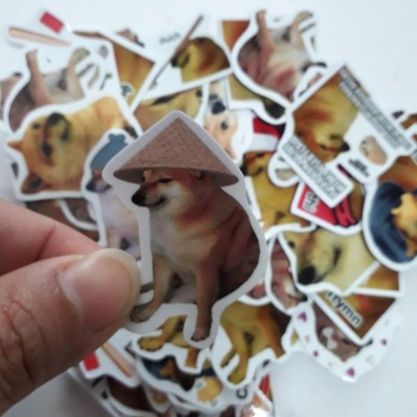 Mua Sticker/ Hình dán Cheems (Combo 20-50 hình dán, random)