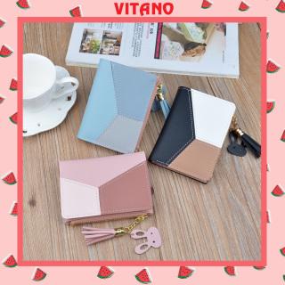 Ví cầm tay nữ mini đẹp phối ba màu VN16 thumbnail