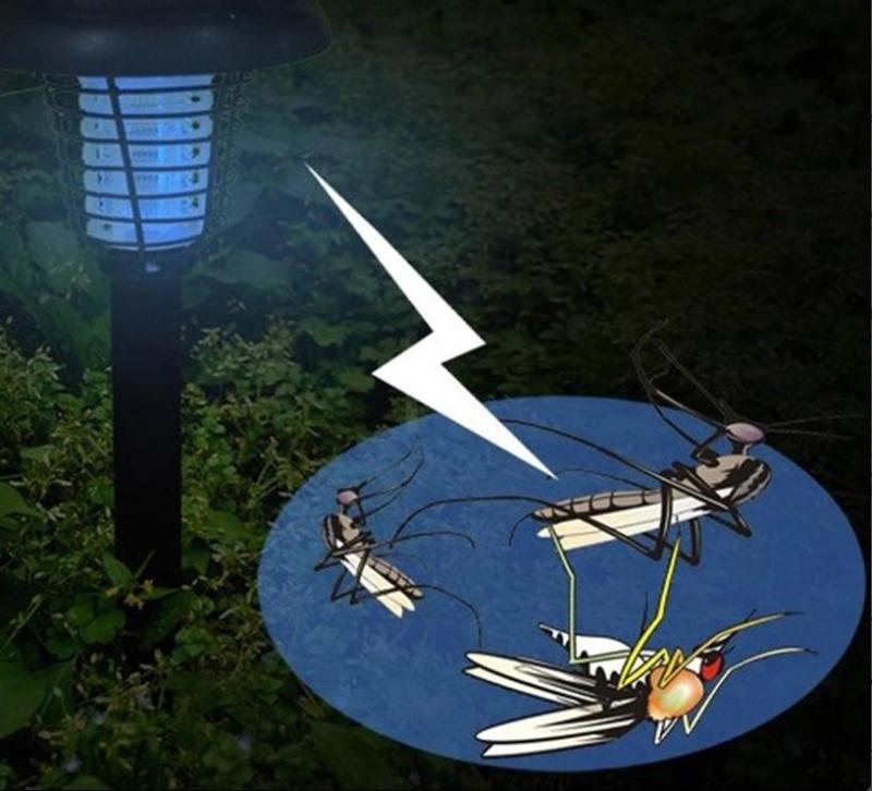 Đèn bắt muỗi côn trùng trang trí sân vườn năng lượng mặt trời NLDM15