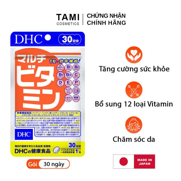 Viên uống Vitamin tổng hợp DHC Nhật Bản Multil Vitamins thực phẩm chức năng bổ sung 12 vitamin thiết yếu hàng ngày nâng cao sức khỏe, làm đẹp da gói 30 ngày TA-DHC-MUL30 cao cấp