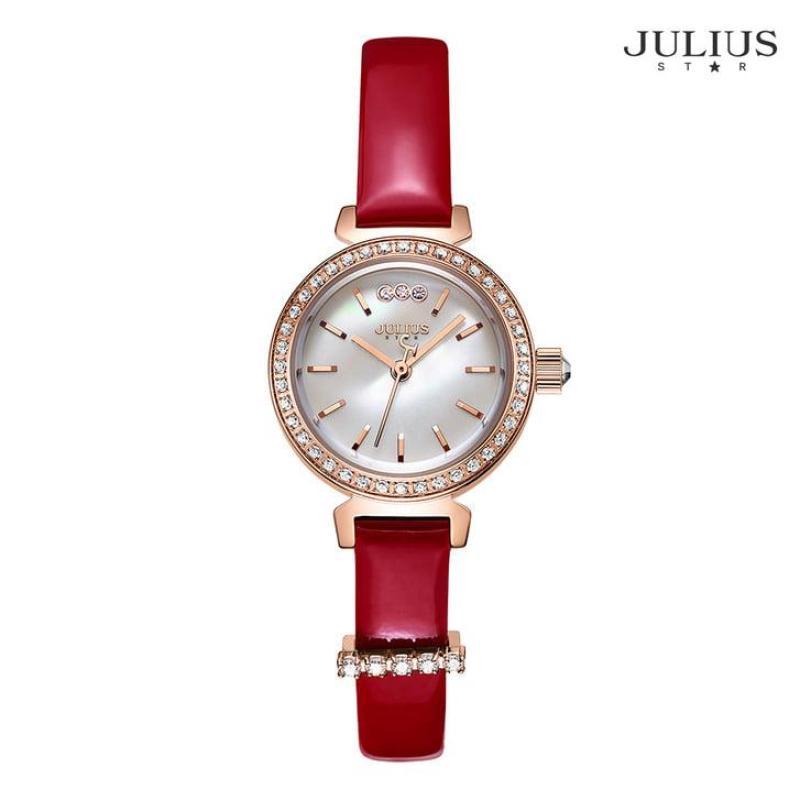 Đồng Hồ Nữ JS-012 Julius Star Hàn Quốc dây da tặng kèm dây Da