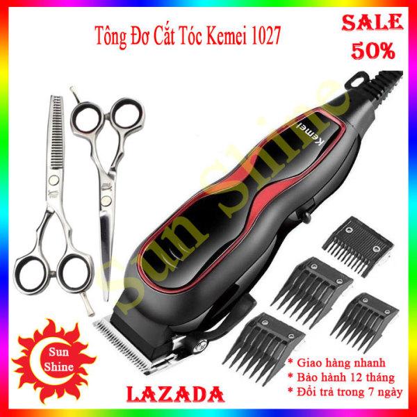 Tông đơ cắt tóc có dây, Tăng đơ cắt tóc gia đình, Máy hớt tóc Kemei KM-1027 cắt tóc gia đình, cắt tóc trẻ em người lớn