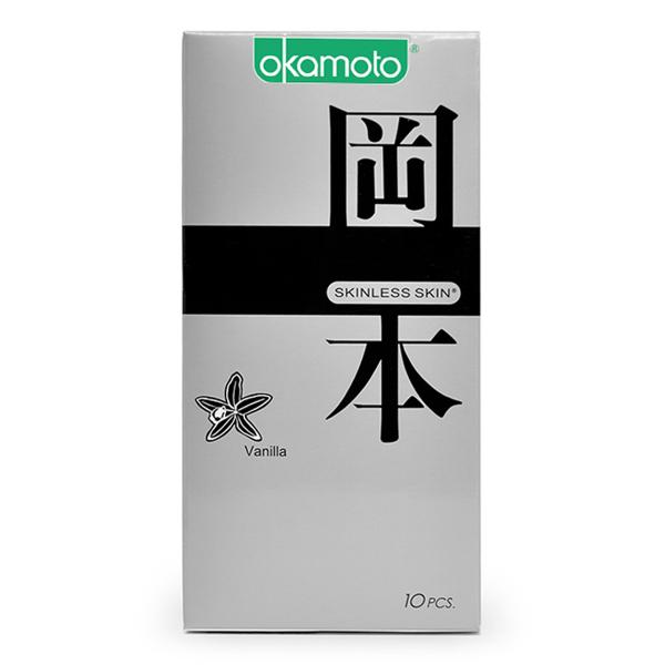 Bao Cao su Okamoto Skinless Skin hương Vanilla Hộp 10 Cái