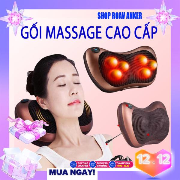 [CỰC SỐC  - GIÁ SỈ] Gối Massage Hồng Ngoại 8 Bi Kiểu Dáng Hàn Quốc, Máy Massage Hồng Ngoại Thế Hệ Mới. Mát Xa Các Cơ Huyệt, Xoa Bóp Chống Nhức Mỏi, Nhanh Chóng Giảm Căng Thẳng  - Bảo Hành Toàn Quốc Trong Thời Gian 12 Tháng.