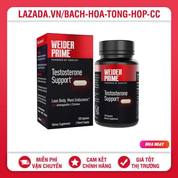 Viên uống Weider Prime Healthy Testosterone Support For Men 120 viên - Date 2023